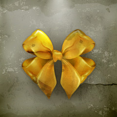 Bow, gold, old-style vector
