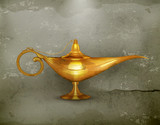 Oil lamp old-style vector
