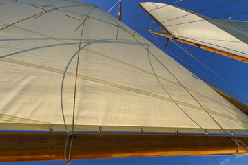 Views of the private sail yacht.