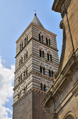 Belltower Cathedral of Viterbo. Lazio. Italy.
