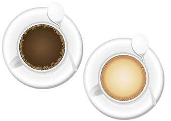 coffee and cappuccino