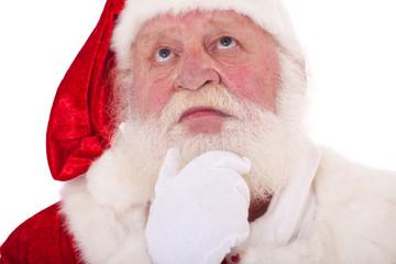 Weihnachtsmann überdenkt eine Entscheidung
