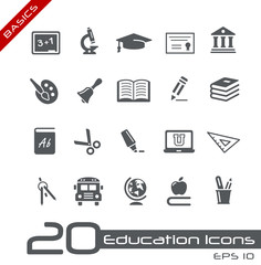 Education Icons // Basics