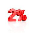 2% Festgeld - 3D Schrift