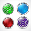 Abstract 3d button designs