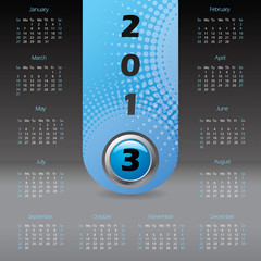 2013 label calendar with dark background
