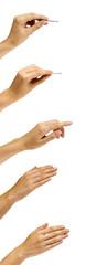 mani su bianco