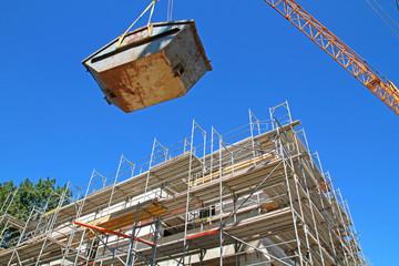 Container für Baustellenabfall