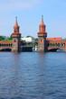 central towers of Oberbaum bridge, Berlin, Germany