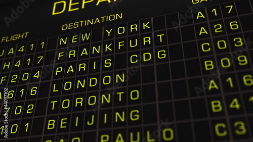 International Airport Timetable Illustration animation