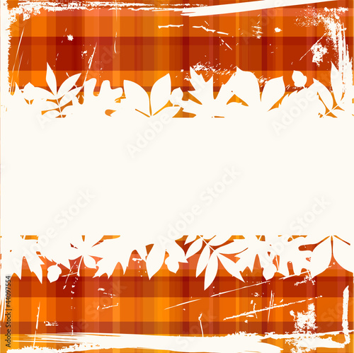 Retro Autumn Background Check Pattern Warm Colors