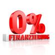 0% Finanzierung - 3D Schriftzug