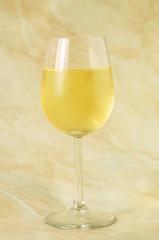 Glass of fine italian white wine