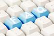 FAQ written on  keyboard buttons