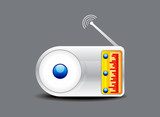 abstract glossy radio icon