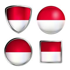 polen flag icon set