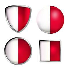malta flag icon set