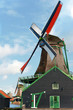 Typical dutch windmill at De Zaanse Schans
