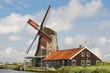 Beautiful windmill at De Zaanse Schans in the Netherlands