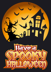 Have a Spooky Halloween Graphic & Flying Bats