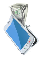 "Money in the ""smarphone purse"""