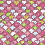 Cheerful childlike seamless pattern poster