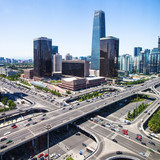 Fototapety landscape of modern city ,beijing