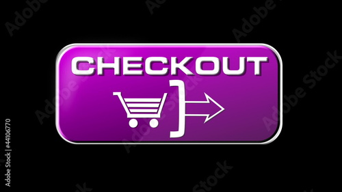 Online Shopping Checkout Button seamless looping