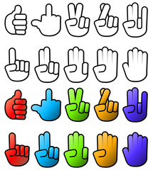Various Hand SIgn Gesture Icons