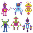 Cute little Robots Collection - for your design or scrapbook