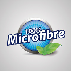 Microfibre button blue