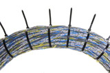 Bundle of network cables with cable ties