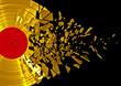 canvas print picture - Vinyl shatter gold