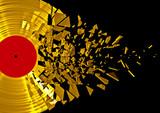 Fototapety Vinyl shatter gold