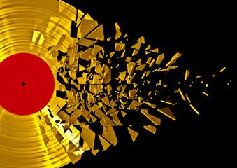 Vinyl shatter gold
