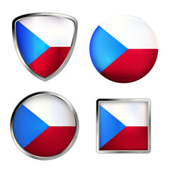 tschechien flag icon set