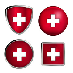 schweiz flag icon set