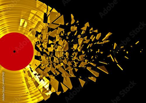 canvas print picture Vinyl shatter gold
