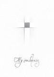 My condolences / Elegant card of sympathy poster
