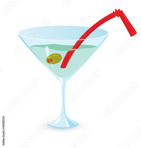 Martini cocktail vector illustration