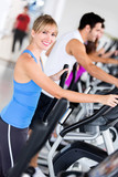 Gym people exercising