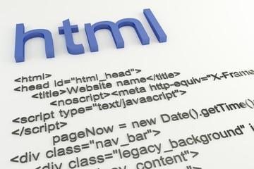 Html code concept