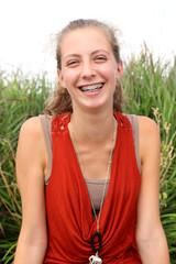 Smilng teenager