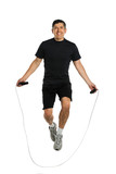 Mature Man Jumping Rope