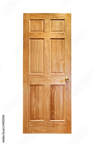 Wooden door isolated