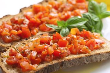 Bruschetta con pomodori- Bruschetta with  tomatoes