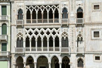 Fassade des Ca' d'Oro in Venedig