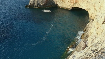 Rote and summer coastline on Ionian Sea (Lefkada, Greece)
