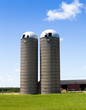 Silos on American Countryside