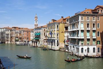 Canale Grande mit Gondeln